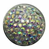Rhinestone Bling Snap 20mm (Assorted Colors) - Iridescent - Snap Jewelry