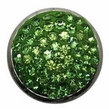 Rhinestone Bling Snap 20mm (Assorted Colors) - Lime Green - Snap Jewelry