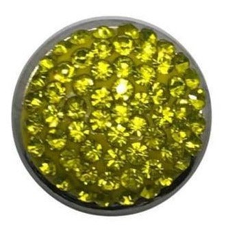 Rhinestone Bling Snap 20mm (Assorted Colors) - Yellow - Snap Jewelry
