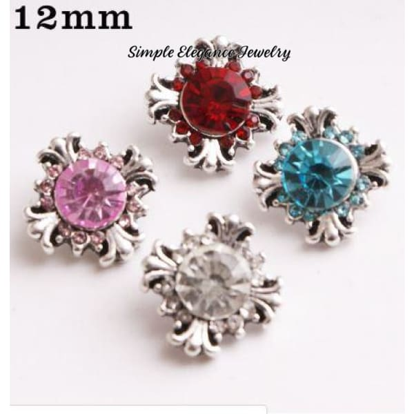 Rhinestone Cross 12mm MINI for Snap Charm Jewelry - Snap Jewelry