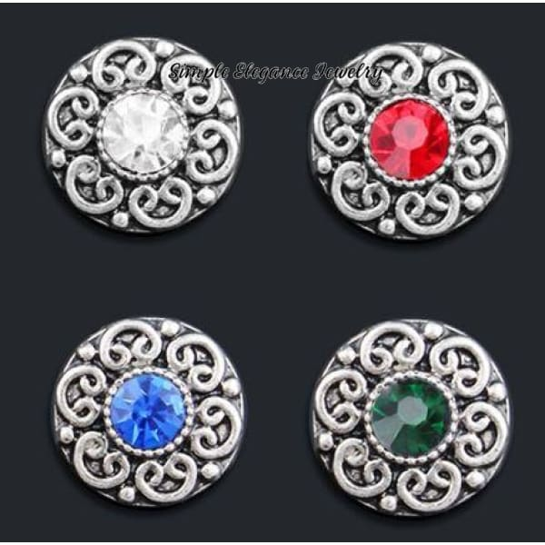Rhinestone Flower 12mm MINI for Snap Charm Jewelry - Snap Jewelry