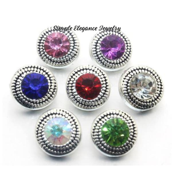 Rhinestone Mini Snap Charm 12mm for Snap Jewelry - Snap Jewelry