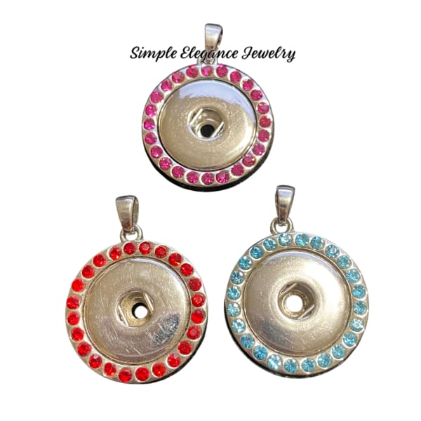 Rhinestone Pendant for Snap Jewelry 20mm - Snap Jewelry