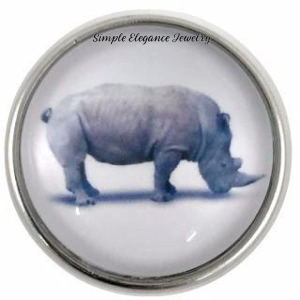 Rhino Snap Charm 20mm for Snap Charm Jewelry - Snap Jewelry