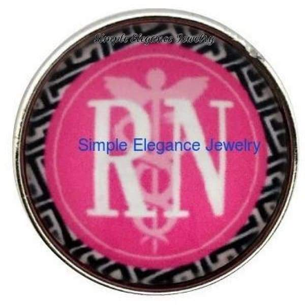 RN Nurse Snap 20mm for Snap Charm Jewelry - Snap Jewelry