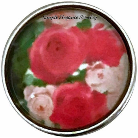 Rose Bouquet Snap Charm 18mm for Snap Jewelry - Snap Jewelry