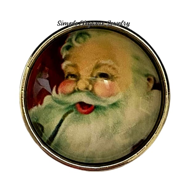 Santa Claus Christmas Snap Charm 20mm - Snap Jewelry