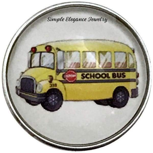 School Bus Snap Charm 20mm for Snap Jewelry - Snap Jewelry