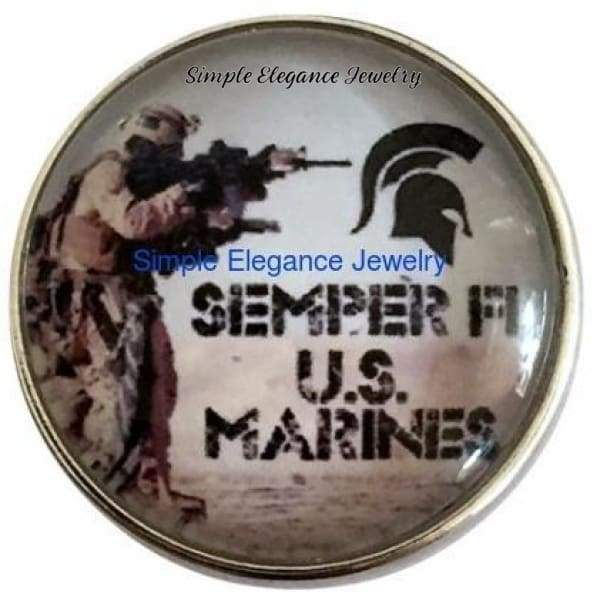 Semper Fi (Always Faithful) Marine Snap 20mm for Snap Jewelry - Snap Jewelry