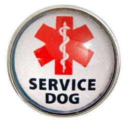 Service Dog Snap Charm 20mm for Snap Jewelry - Snap Jewelry
