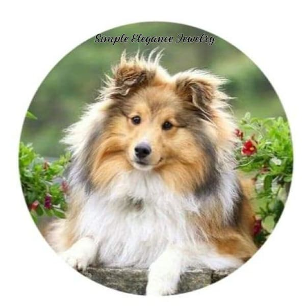 Sheltie Dog Snap Charm 20mm - Snap Jewelry