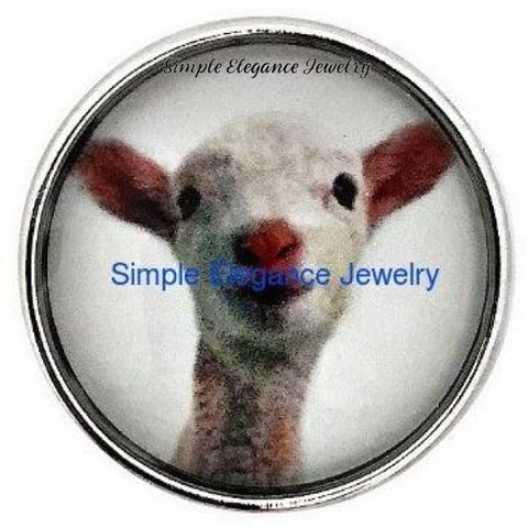 Show Lamb Snap 20mm for Snap Charm Jewelry - Snap Jewelry