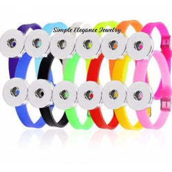 Silicone Buckle Snap Bracelet 20mm - Snap Jewelry