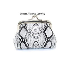 Snake Print Snap Coin Purse - Snap Jewelry