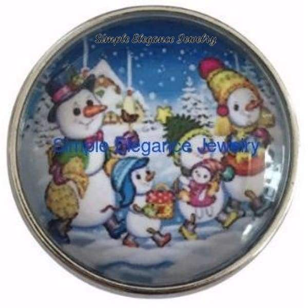 Snowman Family 20mm Snap for Snap Jewelry (298) - Snap Jewelry