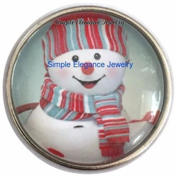 Snowman Snap 20mm for Snap Jewelry - Snap Jewelry