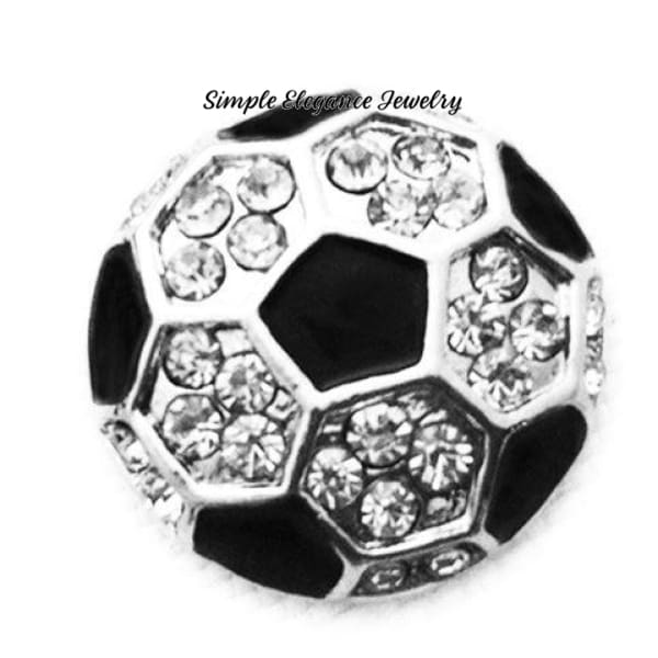 Soccer Bling Snap Charm 20mm - Snap Jewelry