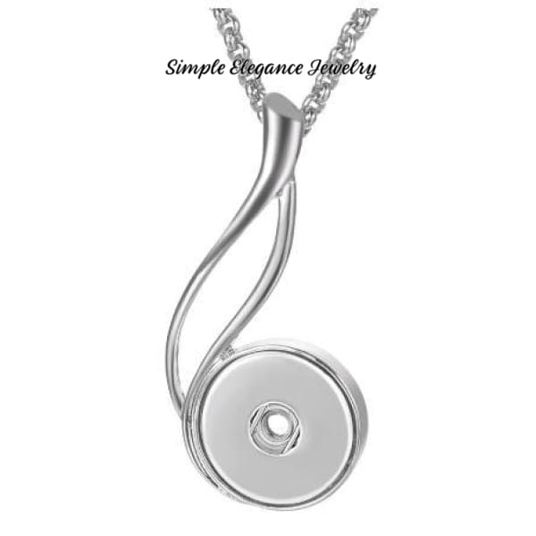 Soft Sweeping Dangle Snap Necklace 20mm Snap - Snap Jewelry