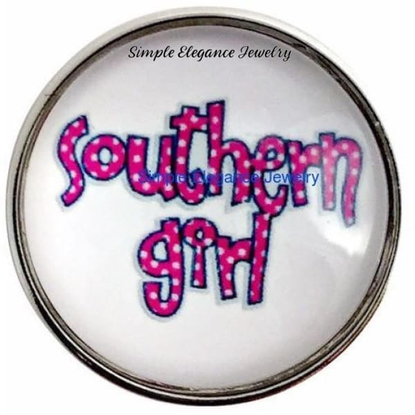 Southern Girl Snap 20mm for Snap Jewelry - Snap Jewelry