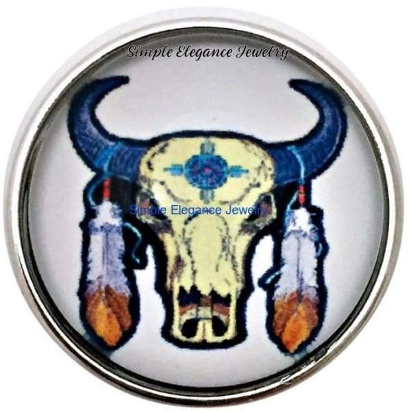 Southwest Cow Skull 20mm Snap for Snap Charm Jewelry - Snap Jewelry