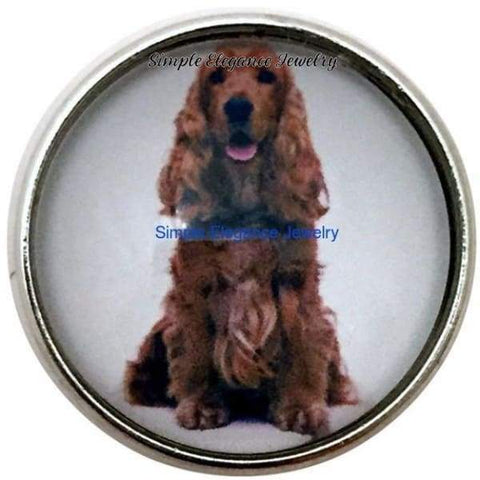 Cocker Spaniel Dog Snap 20mm for Snap Charm Jewelry - Snap Jewelry