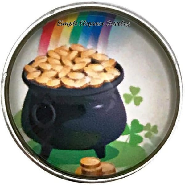 St Patrick Pot Of Gold Snap Charm 20mm for Snap Jewelry - Snap Jewelry