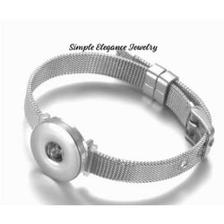 Stainless Steel Snap Bracelet 20mm Snaps - Snap Jewelry