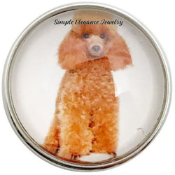 Standard Poodle Dog Snap 20mm for Snap Jewelry - Snap Jewelry