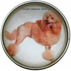 Standard Poodle Dog Snap Charm 20mm for Snap Jewelry - Snap Jewelry