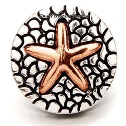Starfish Copper Snap Charm 20mm - Snap Jewelry