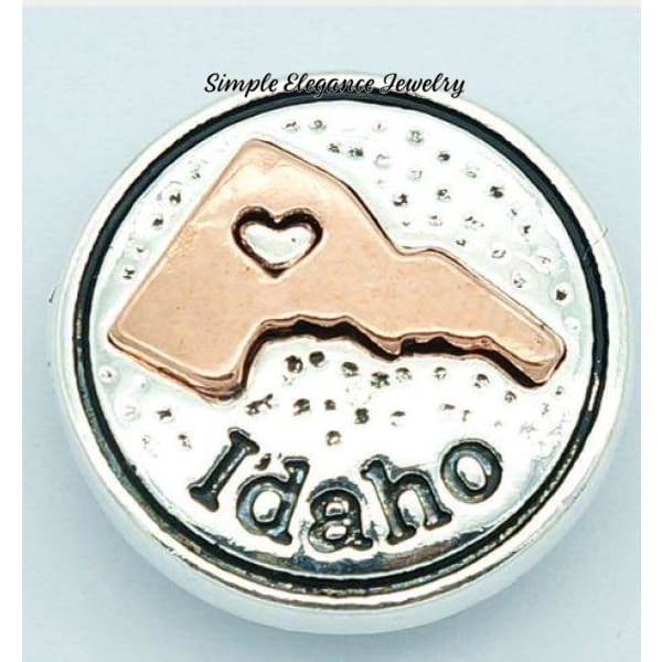 State Metal Snap 18mm for Snap Jewelry - Idaho - Snap Jewelry