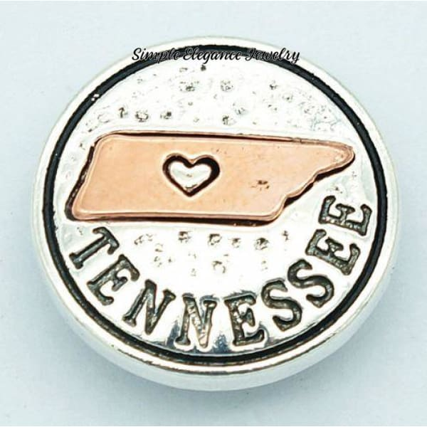 State Metal Snap 18mm for Snap Jewelry - Tennessee - Snap Jewelry