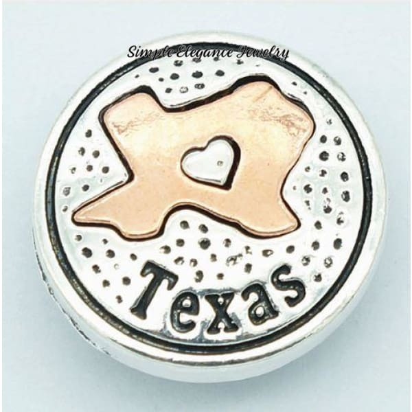 State Metal Snap 18mm for Snap Jewelry - Texas - Snap Jewelry