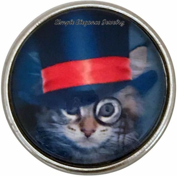 Steam Punk Cat Snap 20mm for Snap Charm Jewelry - Snap Jewelry