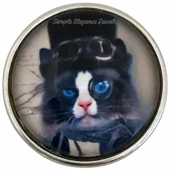 Steam Punk Cat Snap 20mm for Snap Jewelry - Snap Jewelry