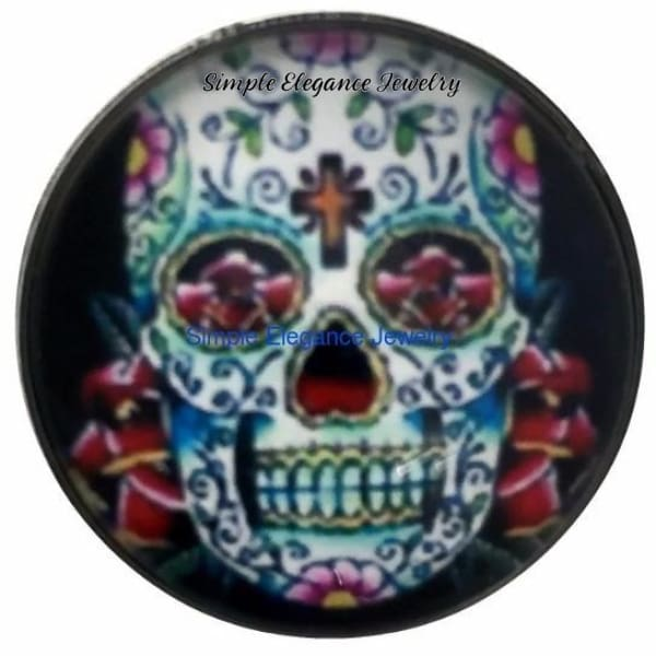Sugar Skull Snap Charm 20mm for Snap Jewelry - Snap Jewelry