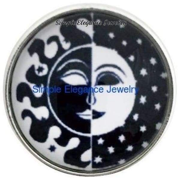 Sun and Moon Snap 20mm for Snap Jewelry - Snap Jewelry