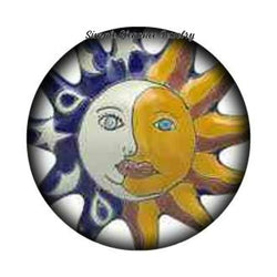 Sun and Moon Snap Charm 20mm and 12mm MINI Snaps for Snap Jewelry - 20mm - Snap Jewelry