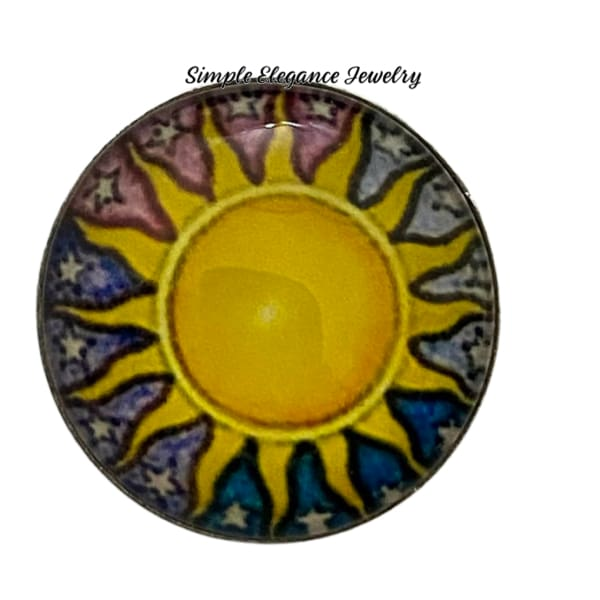 Sun Snap Charm 18mm - Snap Jewelry