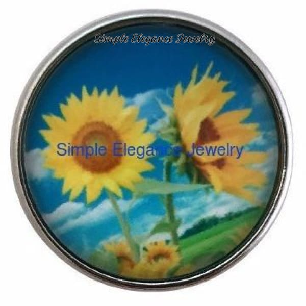 Sunflower Snap 20mm - Snap Jewelry