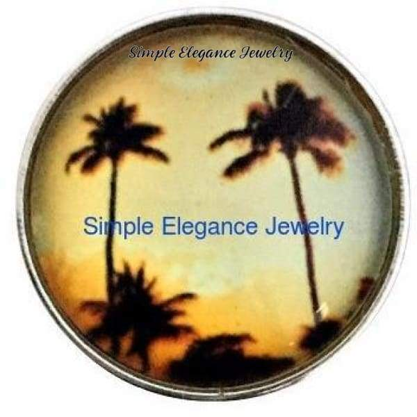 Sunset Palm Tree Snap 20mm for Snap Charm Jewelry - Snap Jewelry
