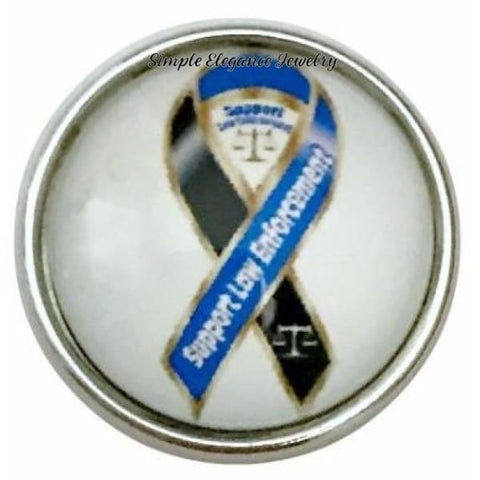 Support Law Enforcement Snap 20mm for Snap Jewelry - Snap Jewelry