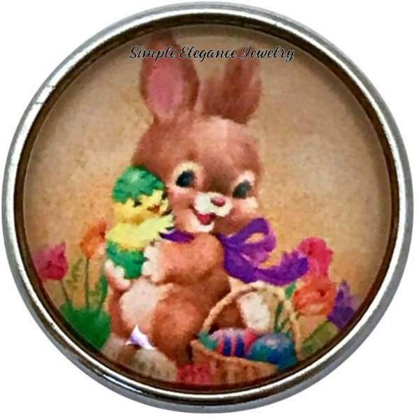 Sweet Easter Bunny Snap Charm 20mm for Snap Jewelry - Snap Jewelry