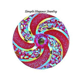 Swirl Acrylic Snap 18mm for Snap Jewelry - Rose - Snap Jewelry