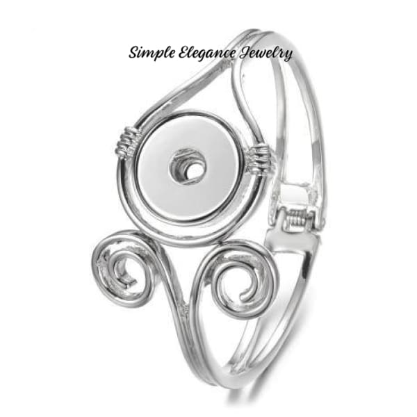 Swirl Clasp Bangle Snap Bracelet 20mm Snaps - Snap Jewelry