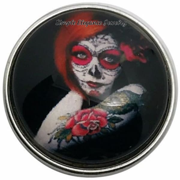 Tattoo Lady Snap Charm 20mm for Snap Charm Jewelry - Snap Jewelry