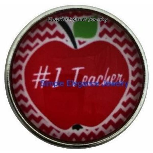 Teacher Apple Snap 20mm for Snap Jewelry - Snap Jewelry