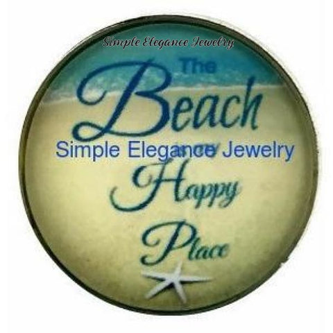 The Beach Is My Happy Place Snap 20mm for Snap Jewelry - Snap Jewelry