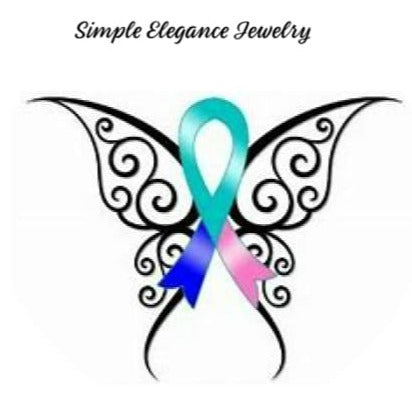 Simple Elegance Jewelry Thyroid Cancer Butterfly Snap Charm 20mm For Snap Jewelry