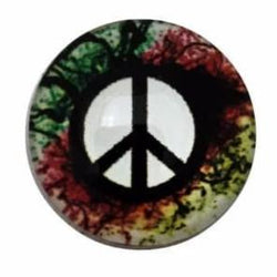 Tie Dye Peace Sign 18mm Snap Charm - Snap Jewelry